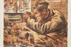 ЖУКОВ Н.Н. Бей насмерть. 85х62 см, плакат. 1942