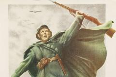 ЖУКОВ Н.Н., КЛИМАШИН В.С. Отстоим Москву. 87х60 см, плакат. 1941 бумага кар. акварель гуашь
