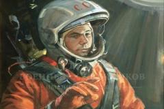 Ананьев Д.А. Гагарин Юрий Алексеевич 2012 г. х.м. 90х70