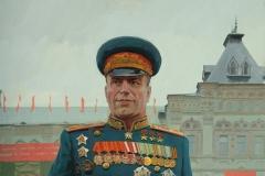 Белюкин Д.А., Г.К. Жуков. 2015 г.,  х.м