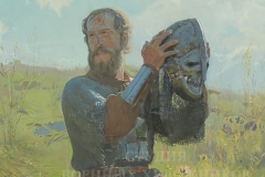 Белюкин Д.А. Победа! 2001 г., х.м.