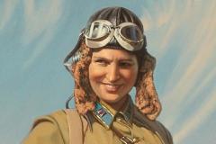 Бирюков Ю.А. Портрет Марины Расковой. 2014 г.,  х.м.