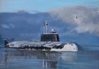 Смирнов Е.А. Подводная лодка 949А Антей. х.м. 2016 г.