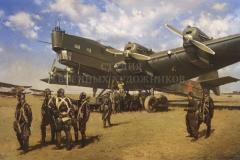 Сытов А.К. ТБ-3 к полету готов. 2007 г. Холст, масло. 120х170