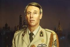 Сытов А.К. Военный атташе посольства Нидерландов в России генерал Ритвельд. 1997 г.х.м. 100х80см