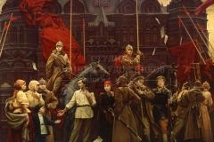 Сытов А.К. Юности революции посвящается. 1987 г.х.м. 300х400 см
