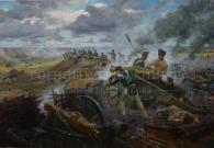 Трошин С.Н. Подвиг артиллеристов на батарее Раевского.х.м.125х220.2012 г.