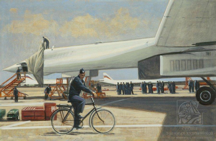 Мокрушин В.А. Будни аэродрома. Белые лебеди. Энгельс. ВКС