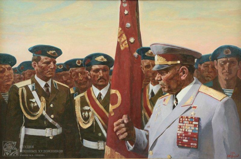 Дроздов А.Ю. В.Ф. Маргелов в кругу молодых десантников
