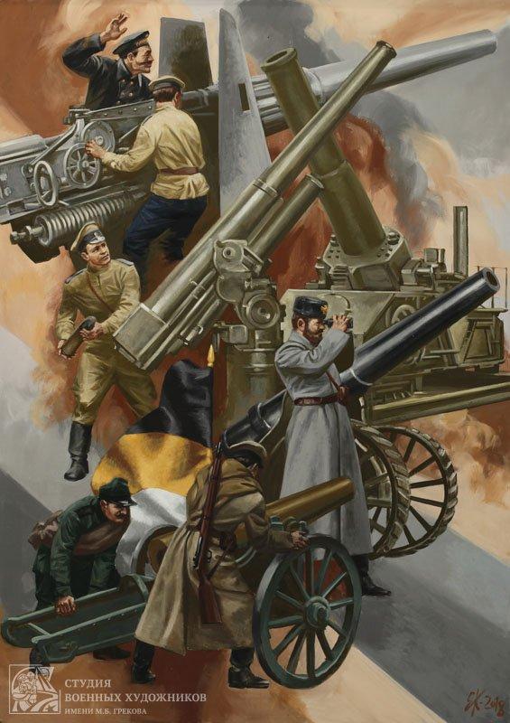 Корнеев Е.А. Триптих История артиллерии России. Балканская война – Первая Мировая война (правая часть)