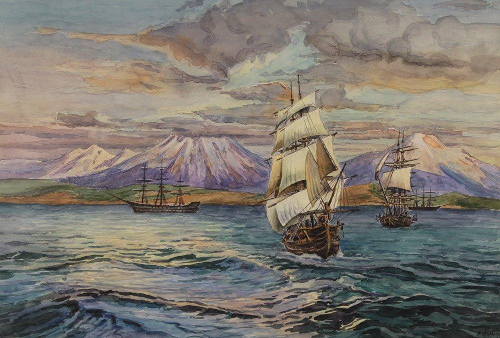 Щербаков В.Н. Русские корабли у Камчатки. 1817 год