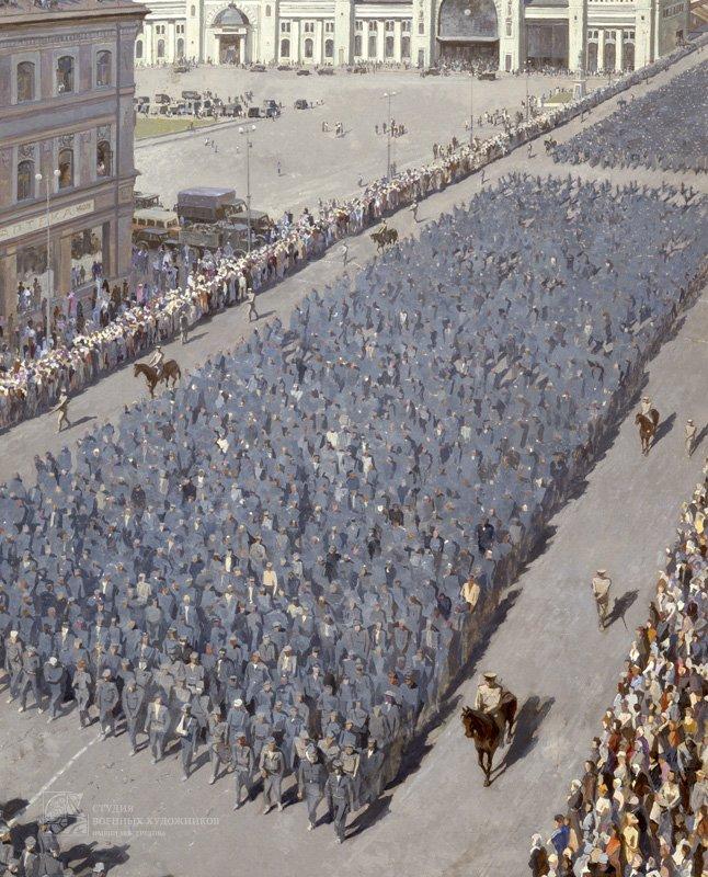 Михайлов А.С. Пленные в Москве. Июль 1944 год