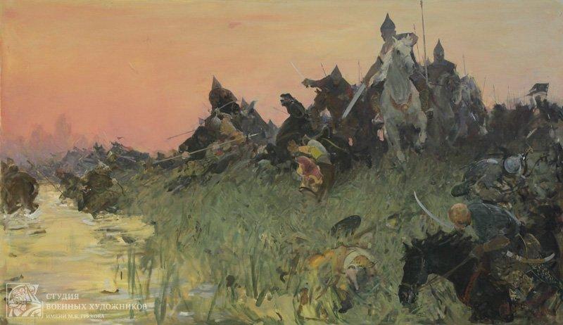 Данилевский Е.И. Битва на реке Воже