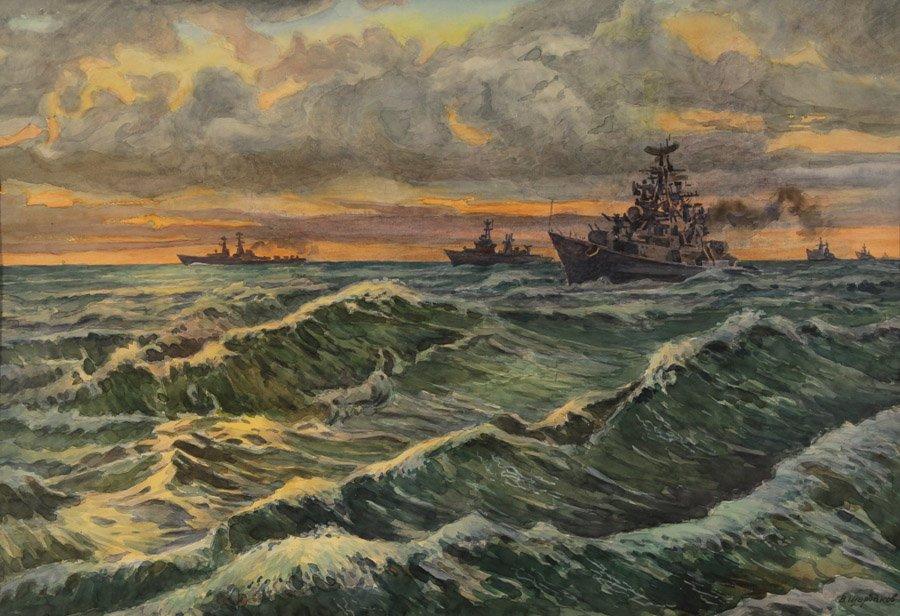Щербаков В.Н. Эскадра в море
