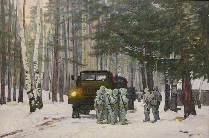 Дроздов А.Ю. Утро в лесу. 2010