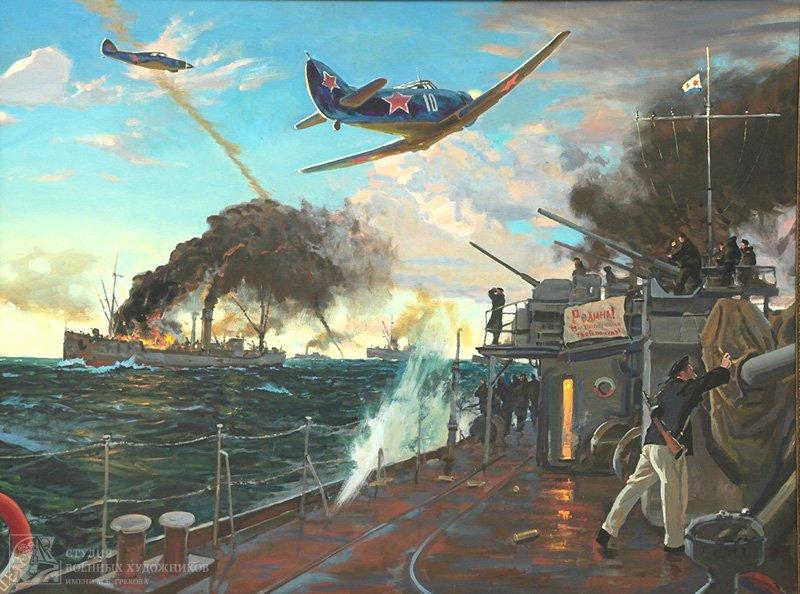 Ездаков О.В. Воздушный бой над союзным конвоем