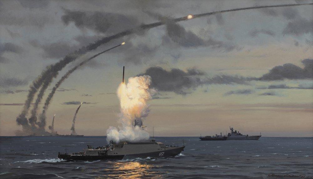 Штрикман Л.Л. Каспийская флотилия. Ракетная атака