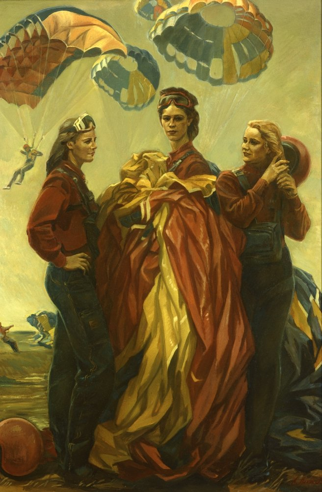Ананьев А.М. Парашютистки (Королевы неба)