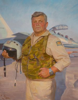Трошин С.Н. Портрет летчика СУ-30СМ Седнева А.Н.