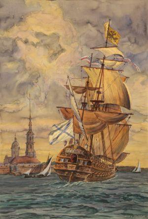Щербаков В.Н. Полтава - первый корабль Балтийского флота. 1712 год