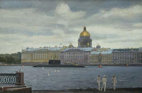 Ананьев А.М. На набережной. Санкт-Петербург
