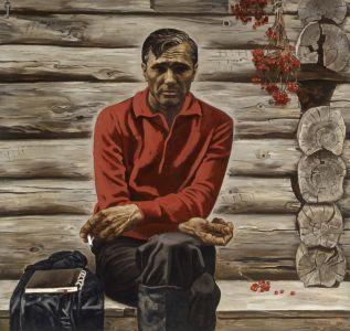 Псарев В.П. Портрет В.М. Шукшина, актера, кинорежисера, писателя. Из серии Сыны России