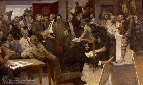 Данилевский Е.И. Групповой портрет художников Студии имени М.Б. Грекова