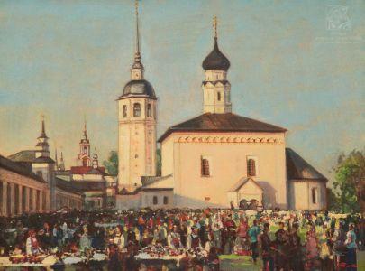 Мокрушин В.А. Суздаль. Воскресенская церковь. Торговые ряды