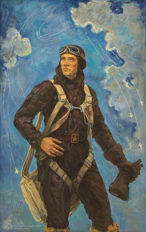 Переяславец В.И. Портрет дважды героя СССР Сафонова
