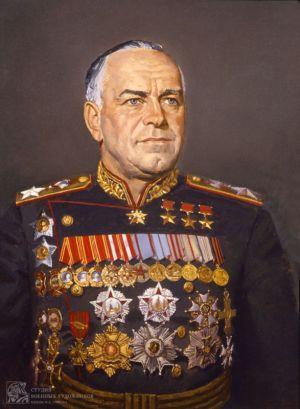 Коротков Н.Н Портрет Г.К. Жукова