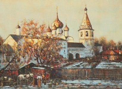 Мокрушин В.А. Суздальский Кремль. Вид с Земляного Вала