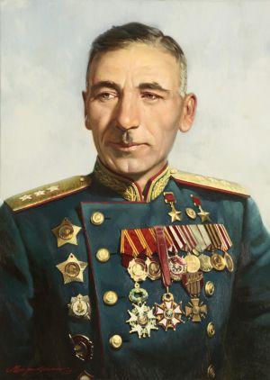 Штрикман. Л. Портрет дважды Героя СССР Плиева И.А.