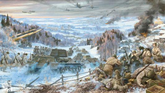 Корнеев Е.А. Битва под Москвой. Яхрома, декабрь. 1941 год