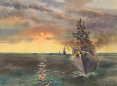 Щербаков В.Н. Большой противолодочный корабль