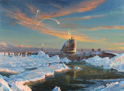 Ездаков О.В. Высадка советских подводников на Северном полюсе