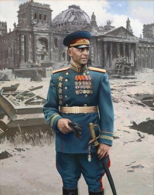 Сытов А.К. Поясной портрет Героя Советского Союза маршала артиллерии Казакова В.И