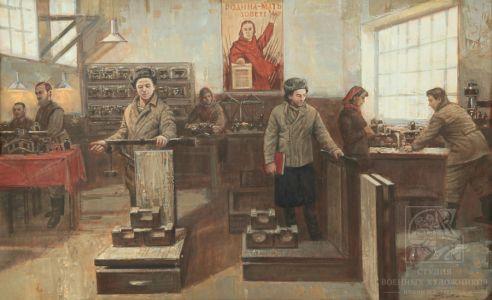 Мокрушин В.А. Изготовление и ремонт весоизмерительных приборов в Великую Отечественную войну