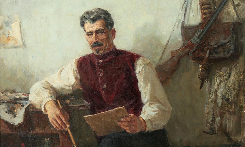 Прокопинский Г.И. Портрет М.Б. Грекова. 1955г. х.м. 100х126